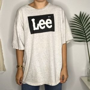 LEE 80s Total Cotton Heather Grey Graphic T-Shirt